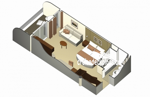 Celebrity Reflection Sky Suite Diagram Layout