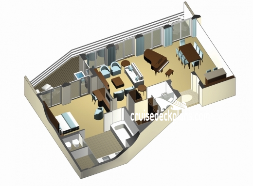 Celebrity Reflection Penthouse Suite Diagram Layout