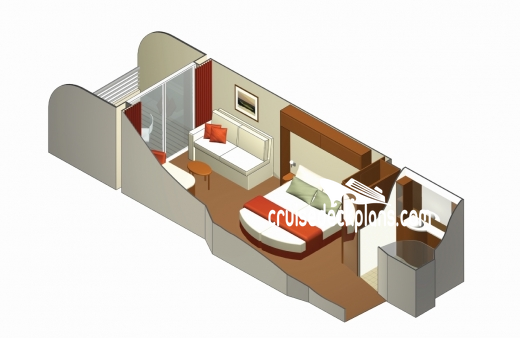 Celebrity Reflection Verandah Diagram Layout