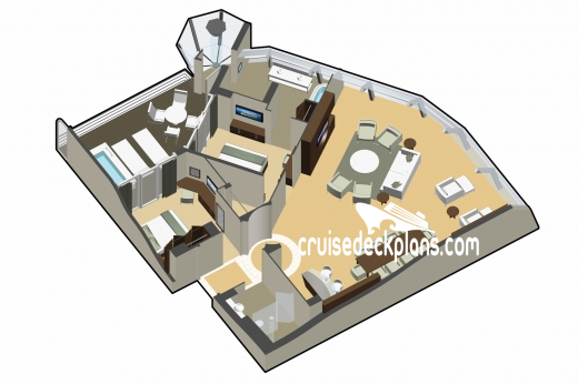 Celebrity Reflection Reflection Suite Diagram Layout