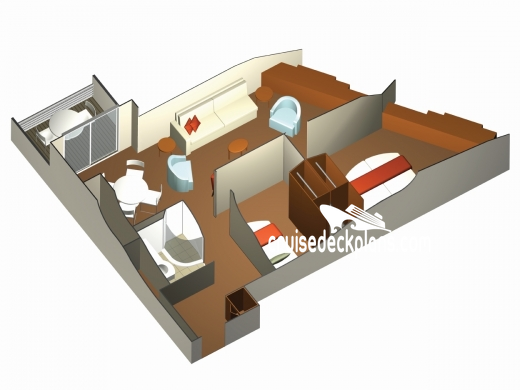 Family Veranda Stateroom, Cabin Category UD, Celebrity ...