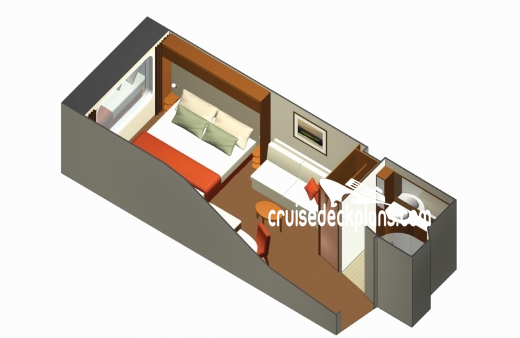 Celebrity Silhouette Oceanview Diagram Layout