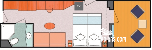Costa Deliziosa Balcony Diagram Layout