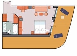 Costa Deliziosa Panorama Suite Diagram Layout