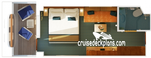 Costa Diadema Cove Balcony Diagram Layout