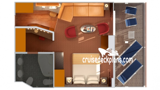 Costa Diadema Grand Suite Diagram Layout