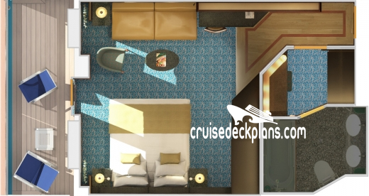 Costa Diadema Suite Diagram Layout