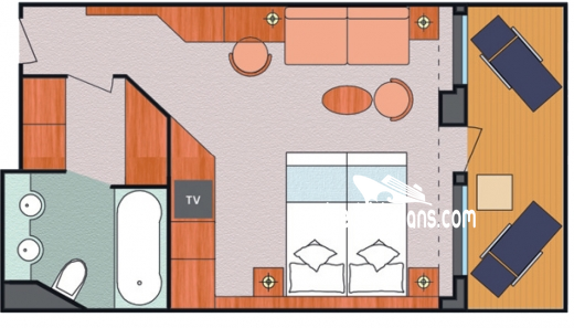 Costa Fascinosa Suite Diagram Layout