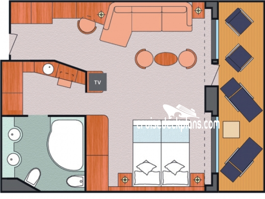 Costa Favolosa Grand Suite Diagram Layout