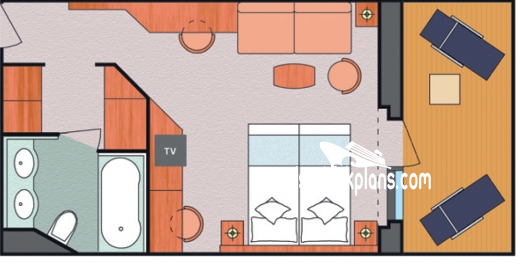 Costa Luminosa Suite Diagram Layout