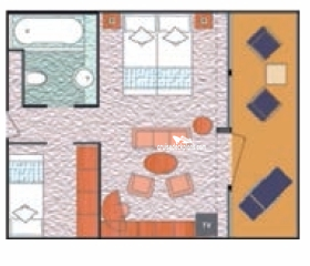 Costa Victoria Mini-Suite Diagram Layout
