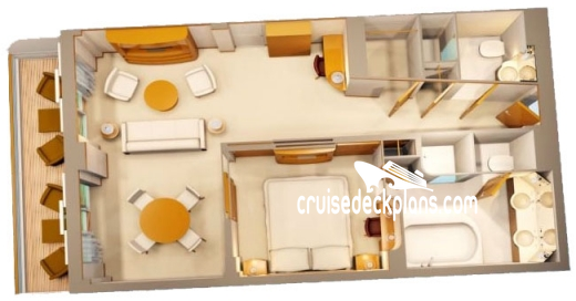 Disney Fantasy Concierge Bedroom Suite Diagram Layout