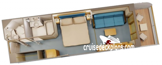 Disney Fantasy Deluxe Verandah Diagram Layout