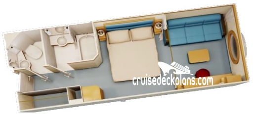 Disney Fantasy Deluxe Oceanview Diagram Layout