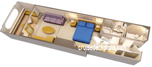 Disney Wonder Navigator Verandah Diagram Layout