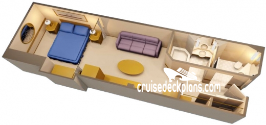 Disney Wonder Deluxe Interior Diagram Layout