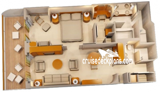 Disney Wonder One Bedroom Suite Diagram Layout