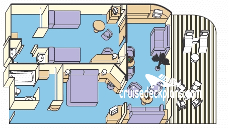 Emerald Princess Family Suite Diagram Layout