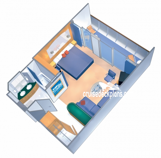 Enchantment of the Seas Grand Suite - 1 Bedroom Diagram Layout