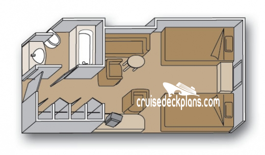 Eurodam Oceanview Diagram Layout