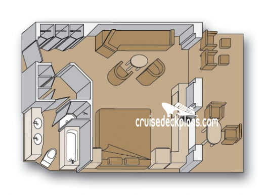 Eurodam Neptune Suite Diagram Layout