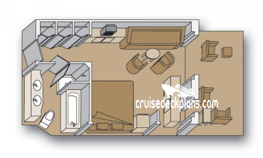 Eurodam Signature Suite Diagram Layout