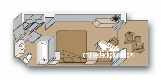 Eurodam Verandah Diagram Layout