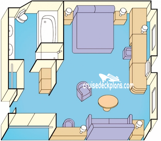 Golden Princess Window Suite Diagram Layout