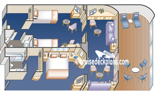 Golden Princess Family Suite Diagram Layout
