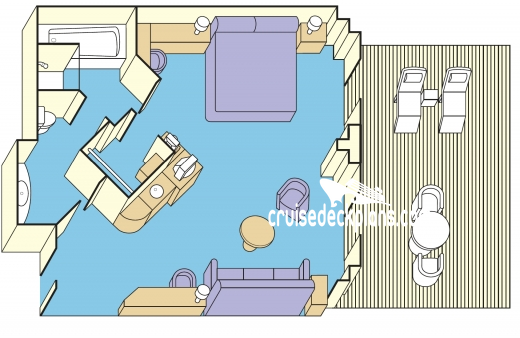 Golden Princess Suite Diagram Layout