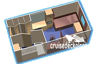 Grandeur of the Seas Oceanview Diagram Layout