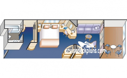 Island Princess Mini-Suite Diagram Layout