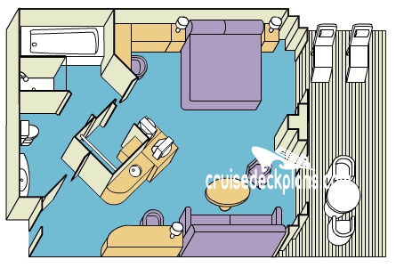 Island Princess Suite Diagram Layout