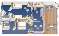 Two Bedroom Suite diagram