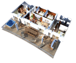 Villa Suite - 4 Bedroom diagram