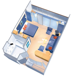 Grand Suite - 1 Bedroom diagram