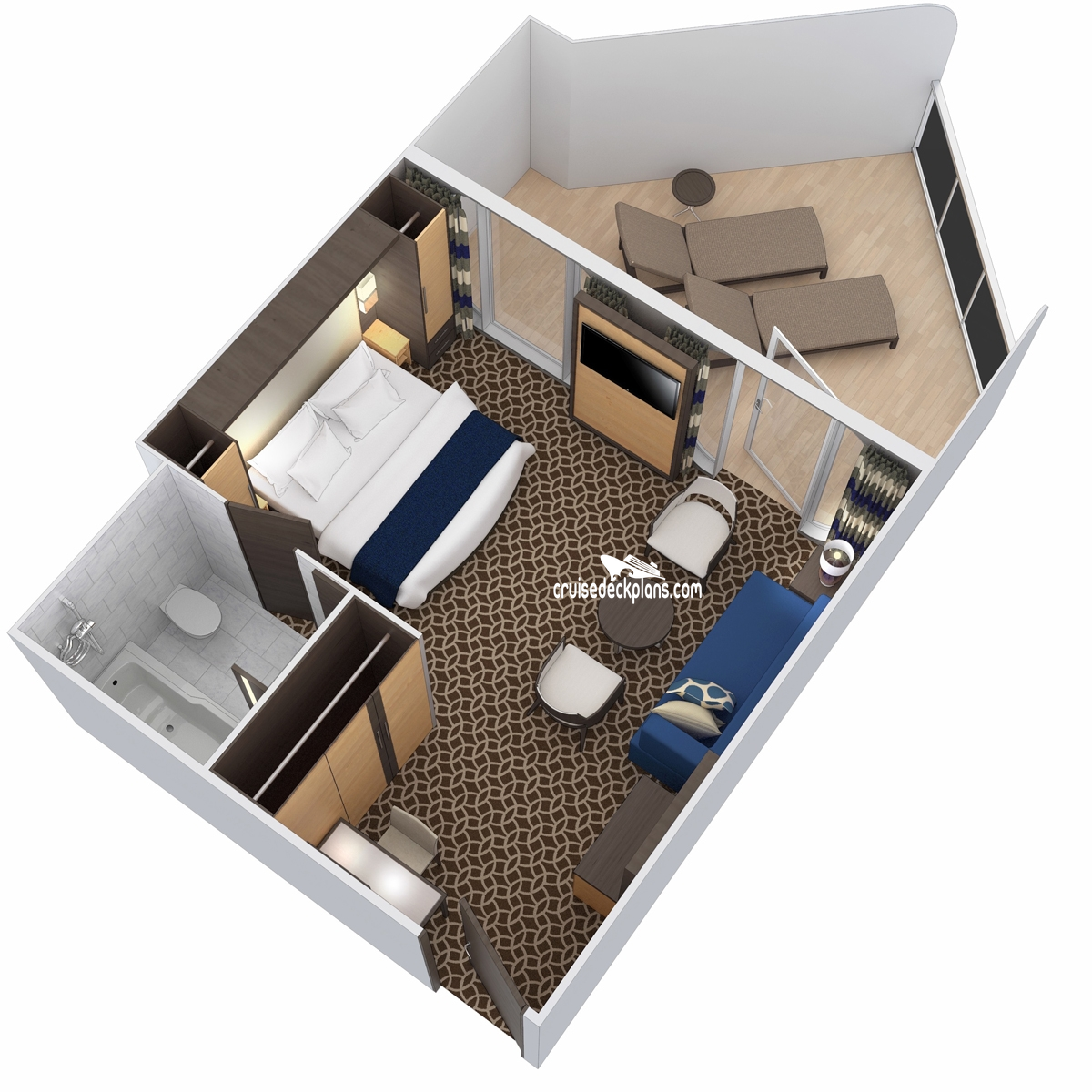 Ovation Of The Seas Junior Suite Large Balcony Stateroom