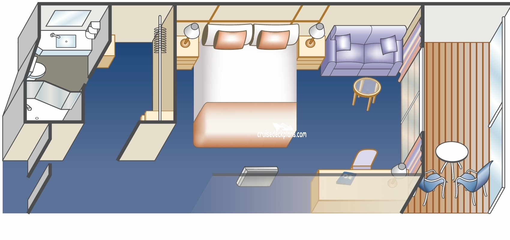 Majestic princess deluxe balcony stateroom for Deluxe balcony