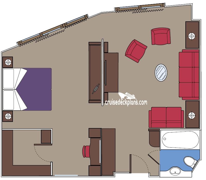 Msc divina yacht club suite stateroom for Msc divina floor plan