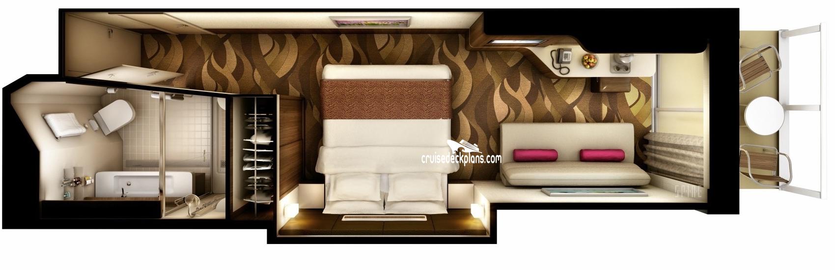 Norwegian Bliss Mini Suite Stateroom