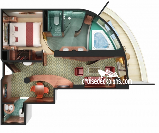 Norwegian Spirit Owners Suite Diagram Layout