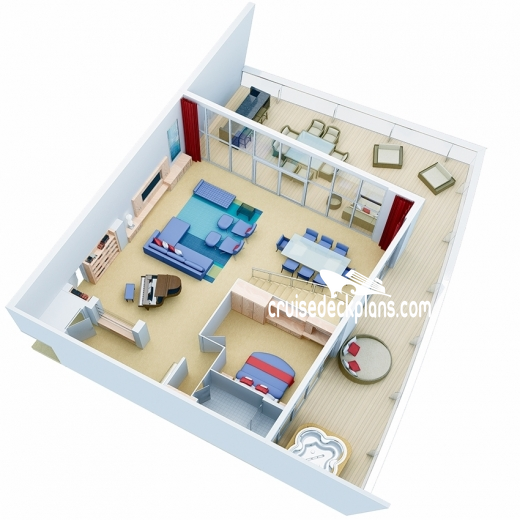 Oasis of the Seas Royal Loft Suite Diagram Layout