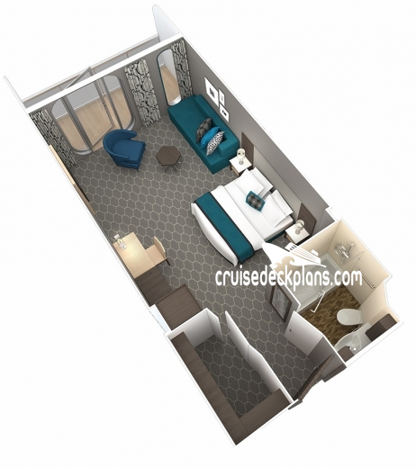 Oasis of the Seas Junior Suite Diagram Layout