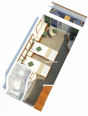 Oceana Balcony Diagram Layout