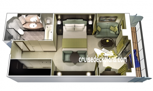 Oceania Riviera Penthouse Suite Diagram Layout