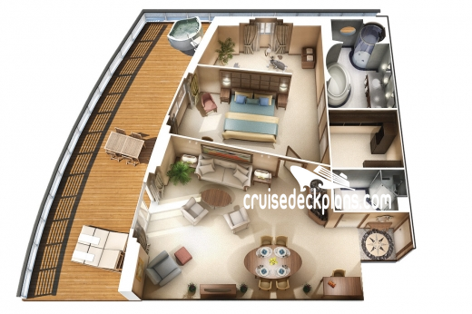 Oceania Riviera Vista Suite Diagram Layout