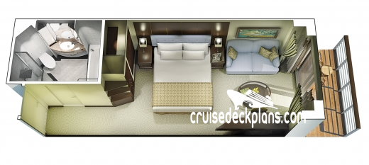 Oceania Riviera Concierge Veranda Diagram Layout