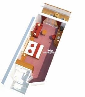 Oriana Deluxe Balcony Diagram Layout