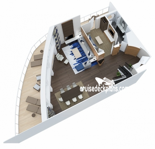 Ovation of the Seas Royal Loft Suite Diagram Layout
