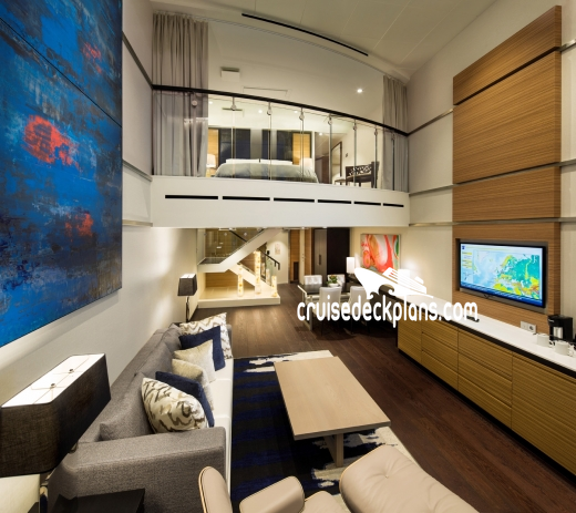 Ovation of the Seas Sky Loft Suite Diagram Layout